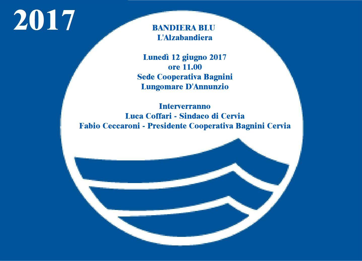 Cooperativa Bagnini Cervia Invito Alla Cerimonia Della Bandiera Blu
